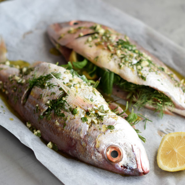 HERB-STUFFED SILVER FISH