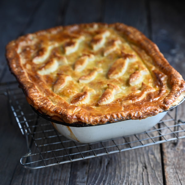 SEAFOOD PIE WITH SILVER FISH