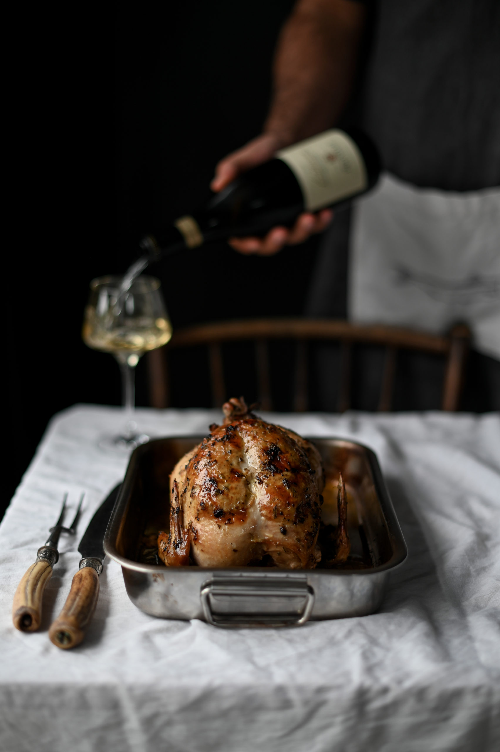 STUFFED CHICKEN WITH PORK AND SAGE