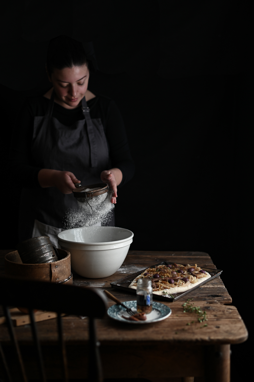 ANCHOVY AND SHALLOT FOCACCIA